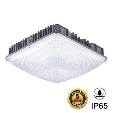 50W Led Outdoor Canopy Light Fixtures ETL