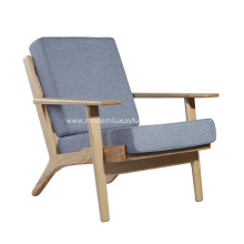Cashmere Hans Wegner Plank Arm Chair Replica