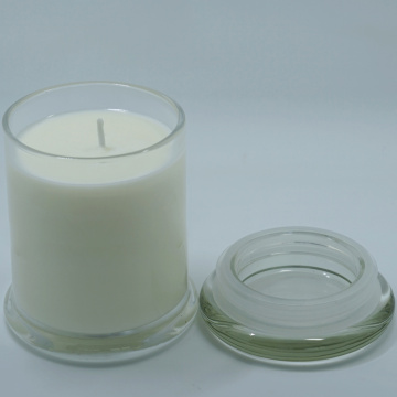 12 oz glass jar scented candles with lid
