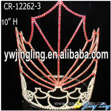 Jingling Easter Tiara Crowns red maple leaf shape