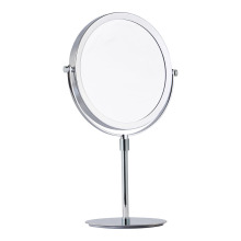 Standing magnifying mirror two-sided