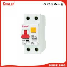 Korlen Magnetic Type IEC61009-1 10ka 1p+N 30/100/300mA RCCB with Overcurrent Protection with Ce CB TUV Silv
