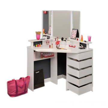 Corner Dressing Table with Lights and Mirror Corner Dressing Table with Lights and Mirror