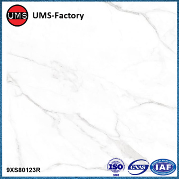 Faux white carrara marble porcelain wall tiles
