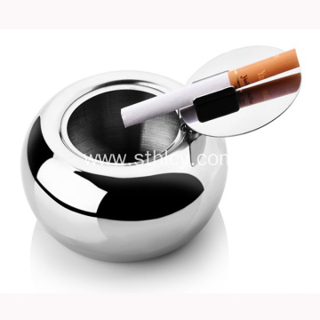 Custom Stainless Steel Cigarette Ashtray With Lid