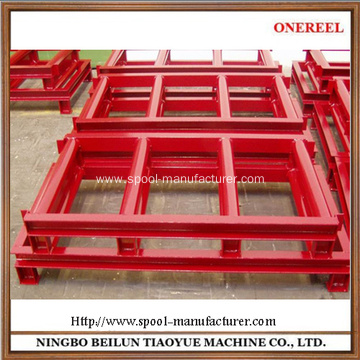 steel cable storage reel pallet