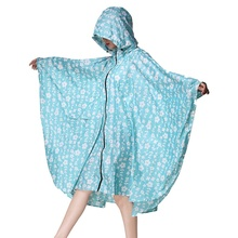 Unisex Hooded Zip up Rain Poncho