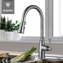 Brushed Nickel Hot Cold Water Kitchen Sink Mixer