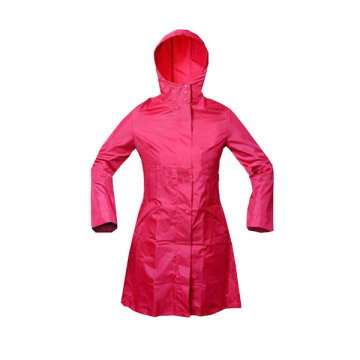 Fashion Waterproof Polyester Rain Jacket for Women