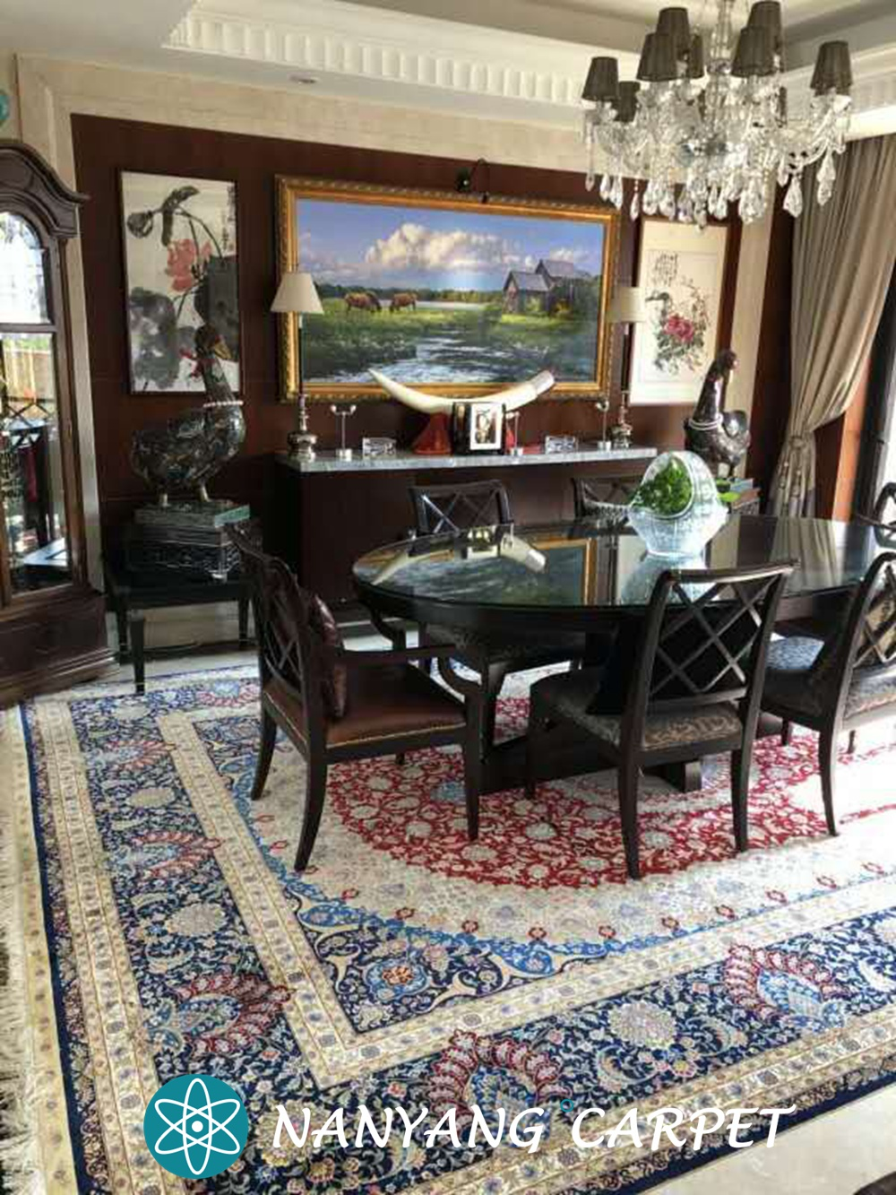 hand knotted silk rug 1 (1)