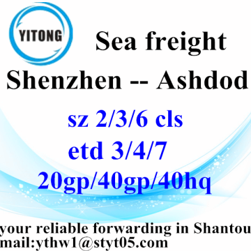 Shenzhen to Ashdod Shipping Timetable