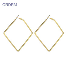 Large Gold Square Hoop Earrings For Women
