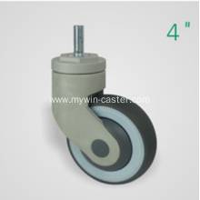 4 Inch Threaded Steam Swivel TPR PP Material Medical Caster