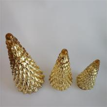 Golden Christmas Tree Shaped Decorations