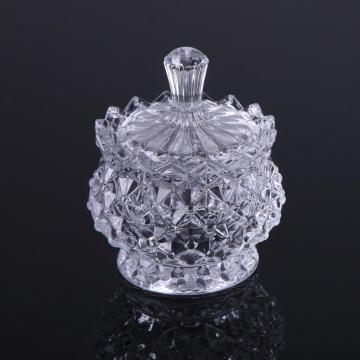 Elegent Crystal  Glass Sugar Pot  Candy Jar
