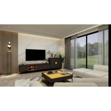 Dark Gray Wooden Living Room Furniture