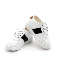 Fashion White Genuine Leather Kids Sports Shoes