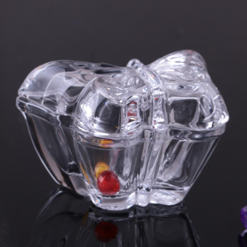 Br 1539 Handmade Butterfly Shape Glass Candy Jar With Cover