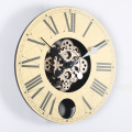 14 Inch Wood Gears Hanging Clocks