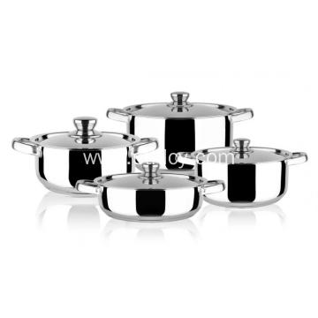 Multiclad Stainless Steel 4-Piece Cookware Set