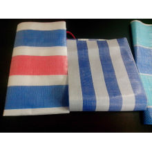 Factory Free sample for Stripe Tarpaulin Virgin Material Striped PE Tarpaulin supply to India Exporter