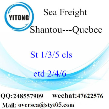 Shantou Port LCL Consolidation To Quebec