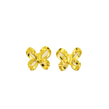 Yellow Gold Bowknot Stud Earring 18 K