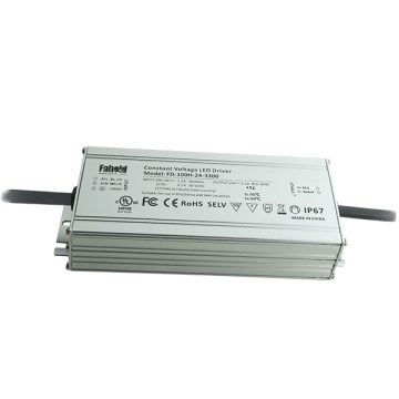 Outdoor IP67 LED Driver Constant Voltage 100W