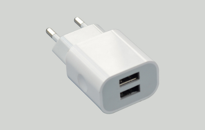 Dual USB EU Plug Phone Charger