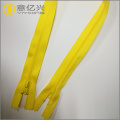 Double slider x type reverse coil zipper