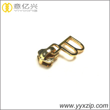cheap gold metal zip sliders for handbag