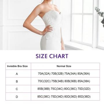 Womens Adhesive Bra Backless Sticky Bra Invisible