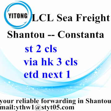 Good Quality for LCL Shipments Shantou LCL Consolidation Freight Agent to Constanta supply to Japan Factory