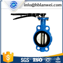 D71X-16 steel handle manual butterfly valve