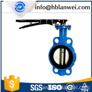 Factory Price for Wafer Center Butterfly Valve D71X-16 steel handle manual butterfly valve export to South Korea Factories