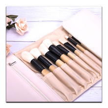 24 pieces black makeup brush pu bag