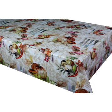 Pvc Printed fitted table covers Using Border Fabric