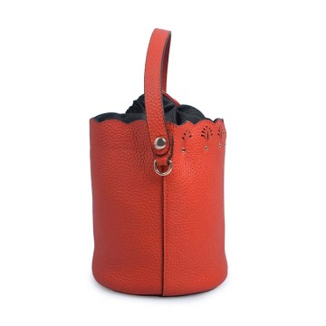 Latest Design Drawstring Bucket Bag Women Leather Bags
