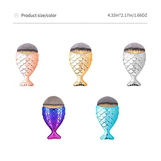 Mermaid Fish Scale Makeup Brush