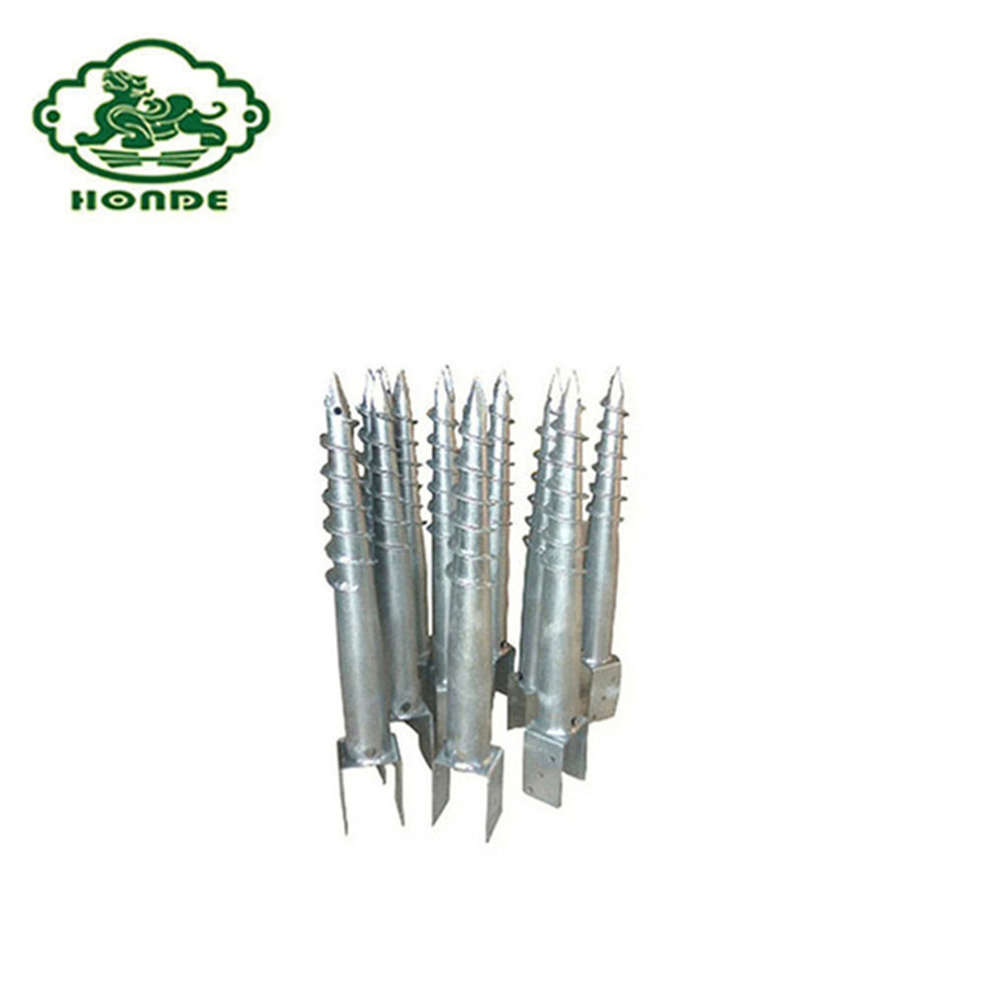CE and ISO Certificate Galvanized Ground Screw