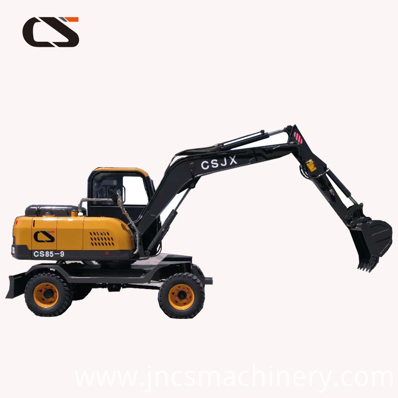 High performance 8Ton wheel excavator