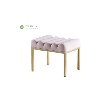 Modern Bedroom Dressing Stool with Fabric Cushion
