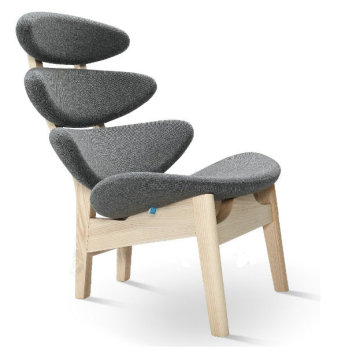 corona chair wood frame by poul volther