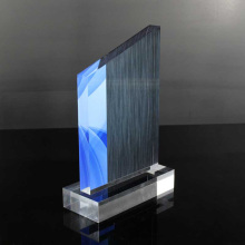 Cheap custom lucite peak awards trophies for soccer