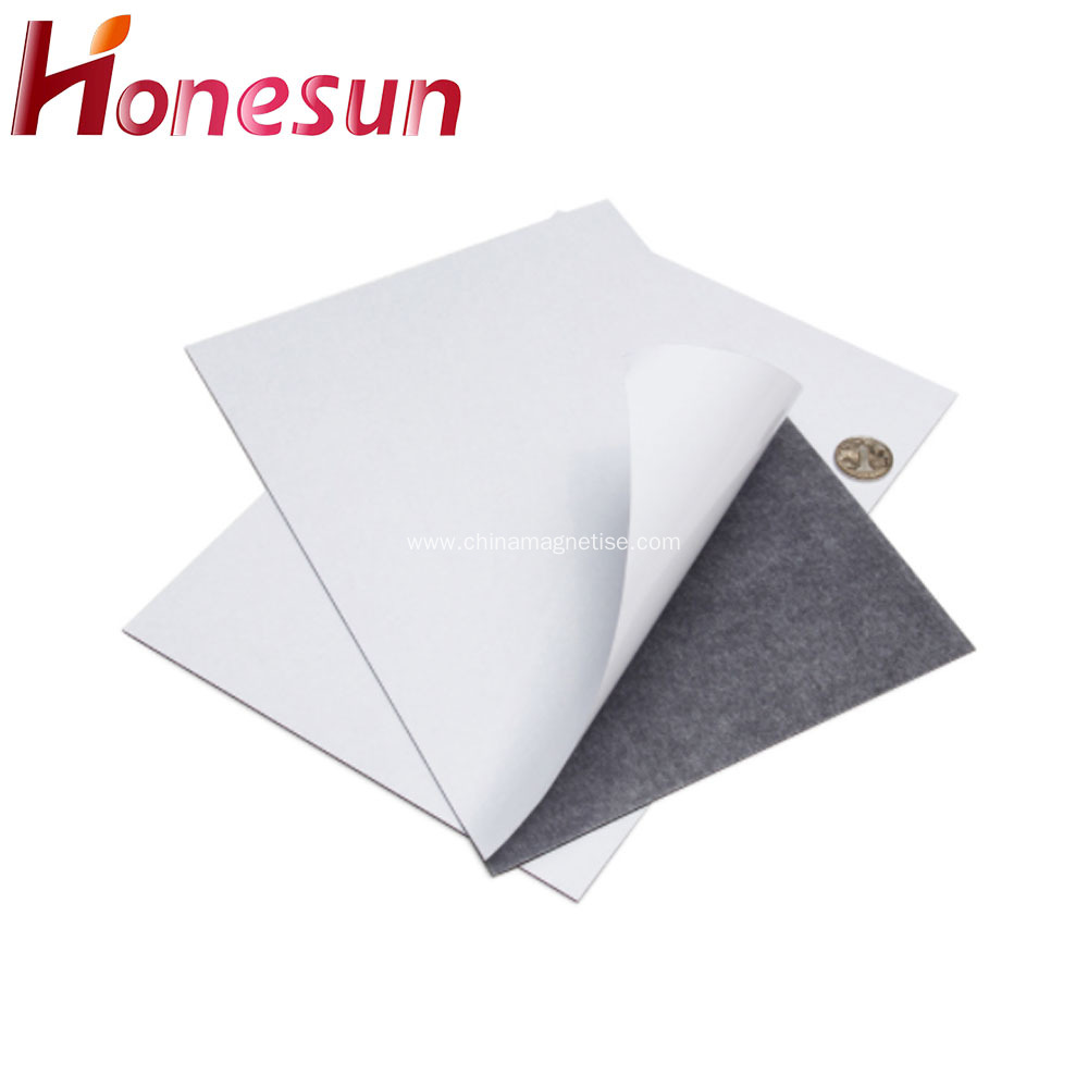 A3 A4 Paper Rubber Magnet With Adhesive