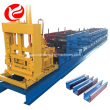 Best Price for C Purlin Roll Making Machine Color steel z colored c purlin forming machine supply to Equatorial Guinea Factory