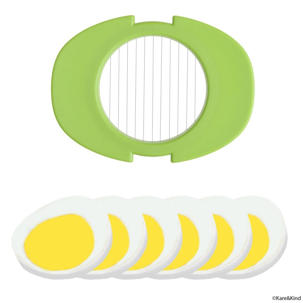 Egg slicer set with 3 cutters with slicer stand