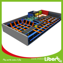 outdoor gymnastic trampoline with trampoline walls