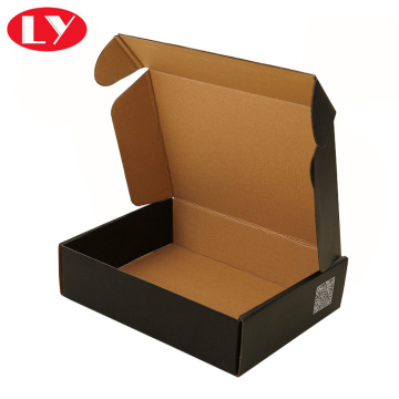 Black corrugate mailing packaging box