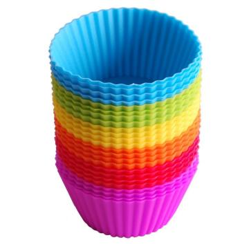 Wholesale Reusable 24Pack Silicone Baking Cups